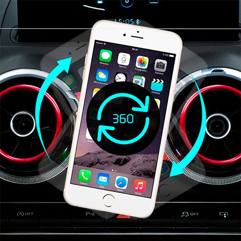 Car Air Vent Mount 360 Magnetic Phone Holder - Audi A1